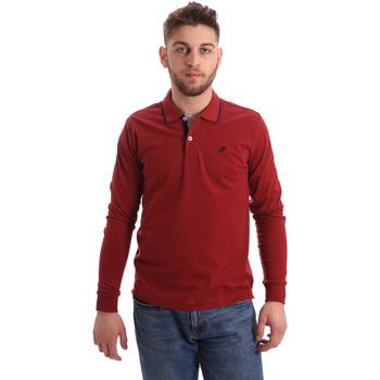 Odjeća Muškarci  Polo majice dugih rukava Key Up 2RG71 0001 Crvena