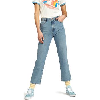 Odjeća Žene  Traperice ravnog kroja Wrangler W238GF Plava