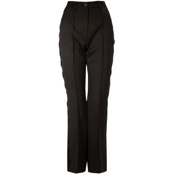 Odjeća Žene  Chino hlačei hlače mrkva kroja Denny Rose 821DD20001 Crno