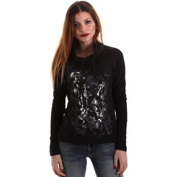 Odjeća Žene  Majice dugih rukava Key Up 5VG84 0001 Crno