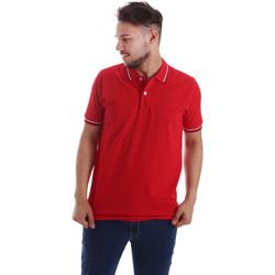Odjeća Muškarci  Polo majice kratkih rukava Key Up 2Q70G 0001 Crvena