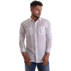 Odjeća Muškarci  Košulje dugih rukava Gas 151150 Bijela