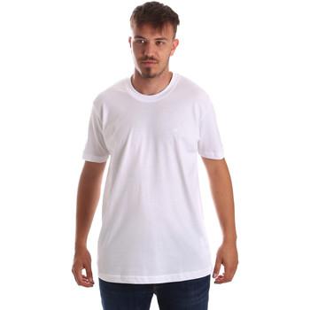 Odjeća Muškarci  Majice kratkih rukava Key Up 2M915 0001 Bijela