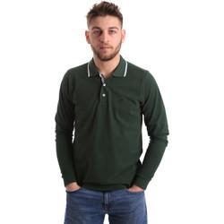 Odjeća Muškarci  Polo majice dugih rukava Key Up 2L711 0001 Zelena