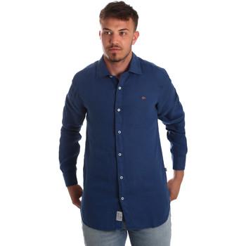 Odjeća Muškarci  Košulje dugih rukava Napapijri N0YIL7 Plava