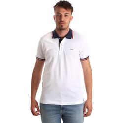 Odjeća Muškarci  Polo majice kratkih rukava Key Up 2Q62G 0001 Bijela
