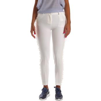 Odjeća Žene  Chino hlačei hlače mrkva kroja Fracomina FR19SP666 Bijela