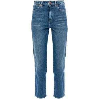 Odjeća Žene  Traperice ravnog kroja Wrangler W238TN Plava