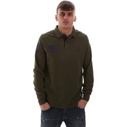 Odjeća Muškarci  Polo majice dugih rukava U.S Polo Assn. 52416 47773 Zelena