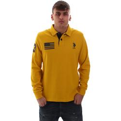 Odjeća Muškarci  Polo majice dugih rukava U.S Polo Assn. 52416 47773 Žuta boja