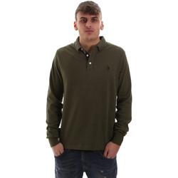 Odjeća Muškarci  Polo majice dugih rukava U.S Polo Assn. 52415 47773 Zelena