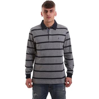 Odjeća Muškarci  Polo majice dugih rukava Navigare NV30027 Siva