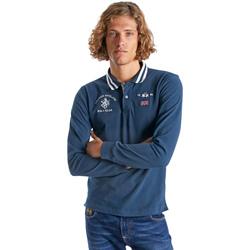 Odjeća Muškarci  Polo majice dugih rukava La Martina OMP325 JS005 Plava