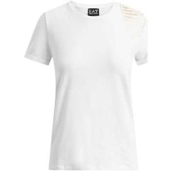 Odjeća Žene  Majice kratkih rukava Ea7 Emporio Armani 6GTT07 TJ12Z Bijela