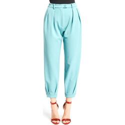 Odjeća Žene  Chino hlačei hlače mrkva kroja Denny Rose 921DD20008 Plava