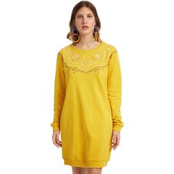 Odjeća Žene  Kratke haljine Desigual 19WWVK86 Žuta boja