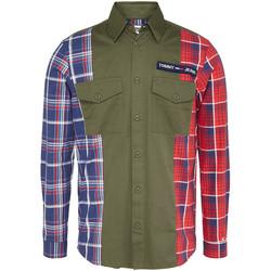 Odjeća Muškarci  Košulje dugih rukava Tommy Jeans DM0DM07513 Zelena