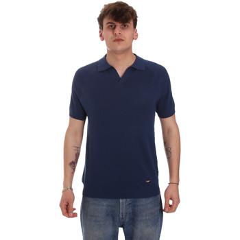 Odjeća Muškarci  Polo majice dugih rukava Gaudi 011BU53010 Plava