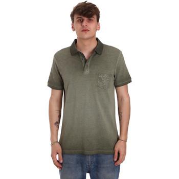 Odjeća Muškarci  Polo majice kratkih rukava Gaudi 011BU64017 Zelena