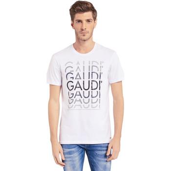 Odjeća Muškarci  Majice kratkih rukava Gaudi 011BU64068 Bijela