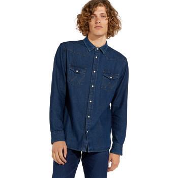 Odjeća Muškarci  Košulje dugih rukava Wrangler W5MSLW301 Plava