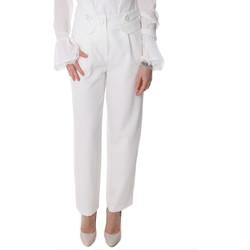 Odjeća Žene  Chino hlačei hlače mrkva kroja Fracomina FR20SP164 Bijela
