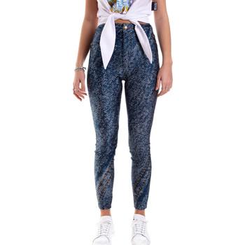 Odjeća Žene  Tajice Versace A1HVB009S0684904 Plava
