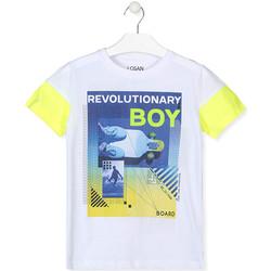 Odjeća Dječak  Majice kratkih rukava Losan 013-1006AL Bijela