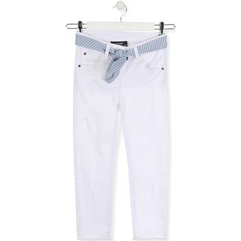 Odjeća Djeca Slim traperice Losan 014-9011AL Bijela