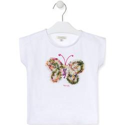 Odjeća Djevojčica Majice kratkih rukava Losan 016-1790AL Bijela