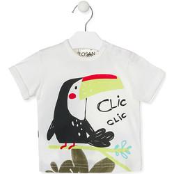 Odjeća Djeca Majice kratkih rukava Losan 017-1012AL Bijela