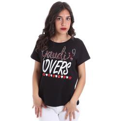 Odjeća Žene  Majice kratkih rukava Gaudi 011BD64008 Crno