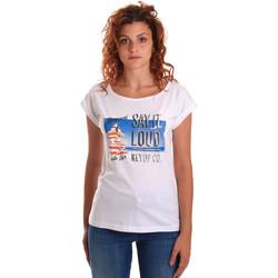 Odjeća Žene  Majice kratkih rukava Key Up 5D72S 0001 Bijela