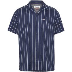 Odjeća Muškarci  Košulje kratkih rukava Tommy Jeans DM0DM07900 Plava
