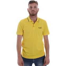 Odjeća Muškarci  Polo majice kratkih rukava Ea7 Emporio Armani 8NPF06 PJ04Z Žuta boja