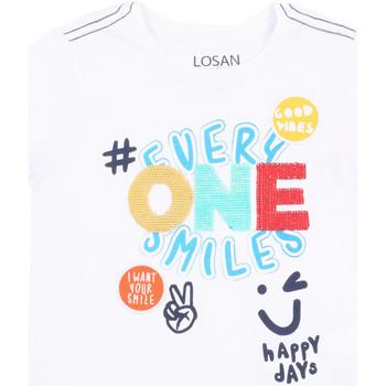 Odjeća Djevojčica Majice kratkih rukava Losan 015-1032AL Bijela