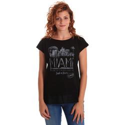 Odjeća Žene  Majice kratkih rukava Key Up 5Z10S 0001 Crno