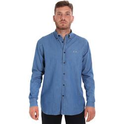 Odjeća Muškarci  Košulje dugih rukava Les Copains 9U2361 Plava