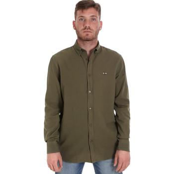 Odjeća Muškarci  Košulje dugih rukava Les Copains 9U2371 Zelena