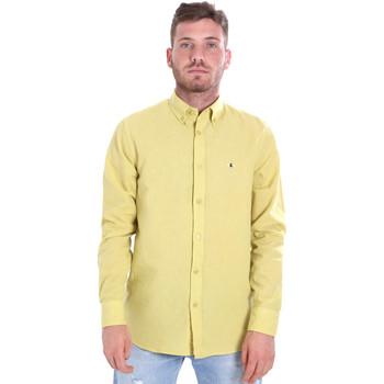 Odjeća Muškarci  Košulje dugih rukava Les Copains 9U2371 Žuta boja
