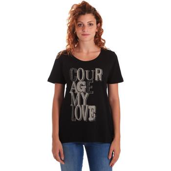 Odjeća Žene  Majice kratkih rukava Key Up 5Z19S 0001 Crno