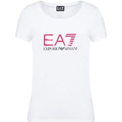 Odjeća Žene  Majice kratkih rukava Ea7 Emporio Armani 8NTT63 TJ12Z Bijela