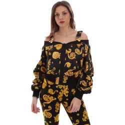 Odjeća Žene  Sportske majice Versace C0HVB932S0774899 Crno