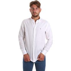 Odjeća Muškarci  Košulje dugih rukava Les Copains 9U2371 Bijela