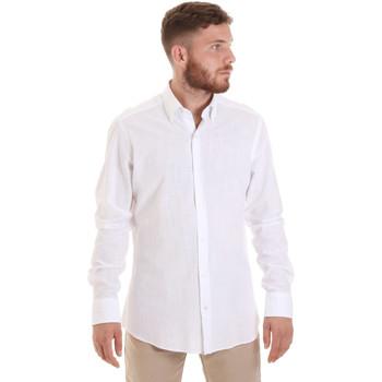 Odjeća Muškarci  Košulje dugih rukava Les Copains 20P.689 P700SL Bijela