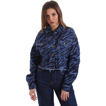 Odjeća Žene  Traper jakne Versace C0HVB939AQC5Q904 Plava