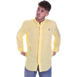 Odjeća Muškarci  Košulje dugih rukava U.S Polo Assn. 58574 50816 Žuta boja