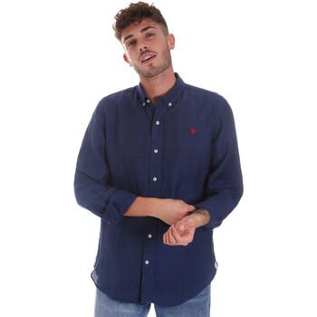 Odjeća Muškarci  Košulje dugih rukava U.S Polo Assn. 58574 50816 Plava