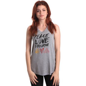 Odjeća Žene  Majice s naramenicama i majice bez rukava Fornarina BERT476JF7206 Siva