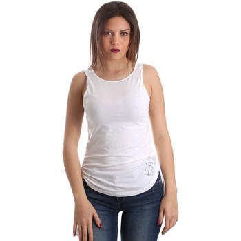 Odjeća Žene  Majice s naramenicama i majice bez rukava Emporio Armani EA7 3GTH54 TJ28Z Bijela